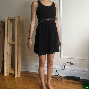 (NWT) H&M Lace Panel Skater Dress